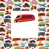 Cartoon Transport card Royalty Free Stock Image