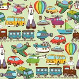 Cartoon transport pattern Royalty Free Stock Photos