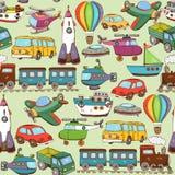 Cartoon transport pattern. Vector illustration cartoon transport seamless pattern background Royalty Free Stock Photos