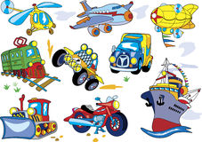 Cartoon transport set Royalty Free Stock Photo