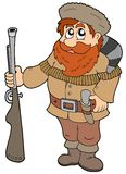 Cartoon trapper Royalty Free Stock Photo