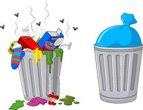 Cartoon trash can Stock Image