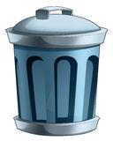 Cartoon trash container -  Royalty Free Stock Image