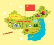 Cartoon Travel China Tourism Concept. Vector Stock Images