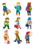 Cartoon travel people icons set. Vector,illustration Royalty Free Stock Photography