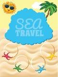 Cartoon travel template Royalty Free Stock Photo
