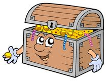 Cartoon treasure chest Royalty Free Stock Images