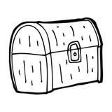 cartoon treasure chest Stock Image