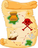 Cartoon Treasure map Stock Photography