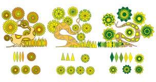 Cartoon tree Stock Photography