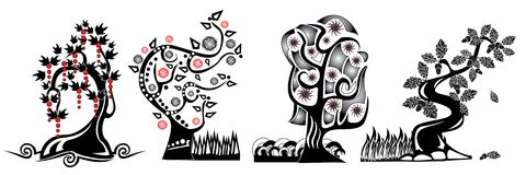 Cartoon tree Stock Images