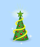 Cartoon Tree - Christmas Vector Illustration Stock Photography