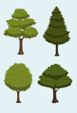 Cartoon tree collection Stock Photos