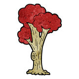 Cartoon tree in fall Stock Photo
