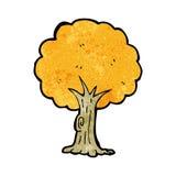 Cartoon tree in fall Royalty Free Stock Photo