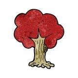 Cartoon tree in fall Stock Photography