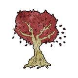 Cartoon tree in fall Royalty Free Stock Image
