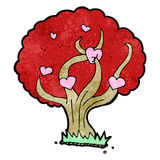Cartoon tree with hearts Royalty Free Stock Image