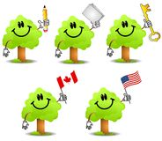 Cartoon Tree Holding Objects 2 Stock Photos