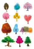 Cartoon tree icon. Vector drawing Stock Photo