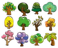 Cartoon tree icon Royalty Free Stock Photography