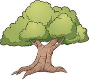 Cartoon tree Stock Photography