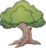 Cartoon tree. Cartoon oak tree. Vector clip art illustration with simple gradients. All in a single layer Royalty Free Stock Photos