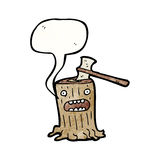 Cartoon tree stump Stock Images