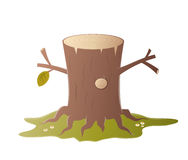 Cartoon tree stump Stock Photo