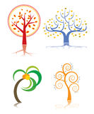 Cartoon trees Royalty Free Stock Image