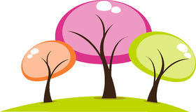 Cartoon trees  Stock Images