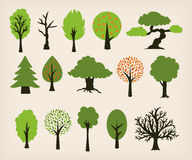 Cartoon trees Royalty Free Stock Photography