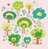 Cartoon trees fancy Royalty Free Stock Photography
