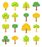 Cartoon trees icons Royalty Free Stock Image