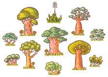 Cartoon Trees Set Stock Image