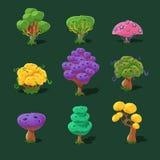 Cartoon Trees, Vector Set Stock Images