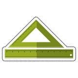 cartoon triangle ruler measuring school stock illustration