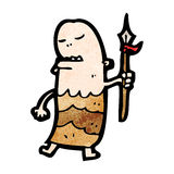 Cartoon tribal man Stock Photos