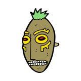 cartoon tribal mask Stock Photography