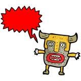 Cartoon tribal shaman with big mask Stock Images