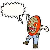 cartoon tribal shaman with big mask Stock Image