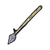 cartoon tribal spear Royalty Free Stock Photo