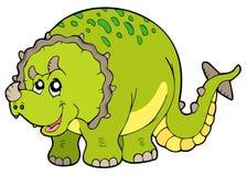Cartoon triceratops. On white background -  illustration Royalty Free Stock Photo