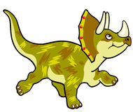 Cartoon triceratops Royalty Free Stock Photos