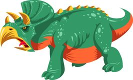 Cartoon triceratops stock image