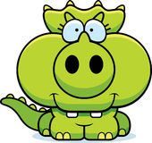 Cartoon Triceratops Smiling Royalty Free Stock Images