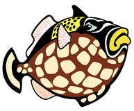 Cartoon trigger fish Stock Photos