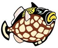 Cartoon trigger fish Stock Photos