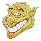 Cartoon troll head Stock Photography