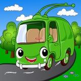 Cartoon trolleybus Stock Photos